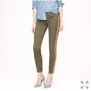 J Crew toothpick tuxedo stripe skinny jeans